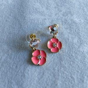 Kate Spade Pink Flower Earrings